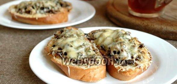 Гренки грибами рецепт
