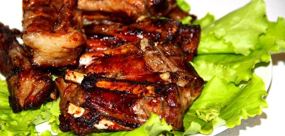 Рецепт свиных ребрышек на мангале целиком