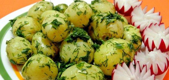 Картошка с укропом рецепт с фото