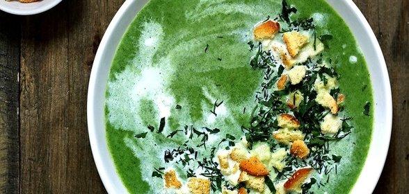 Рецепты из шпината суп