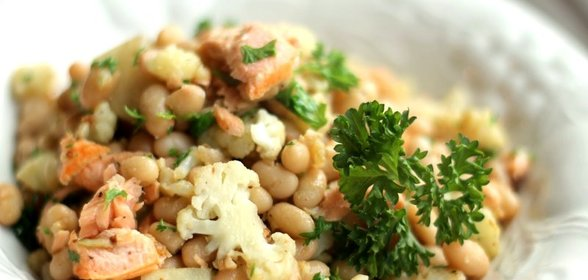 Салат с капустой и фасолью рецепт пошагово