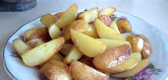 Жареная картошка с чесноком рецепт пошагово