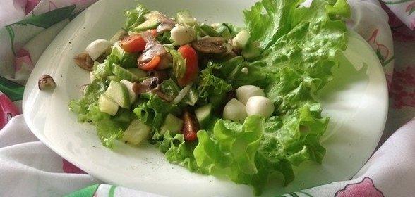 Вкусный салат с шампиньонами пошагово с