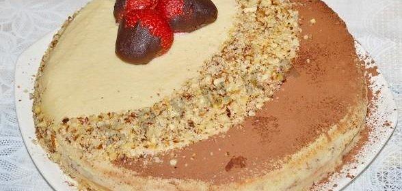 Торт бисквит с заварным кремом фото рецепт