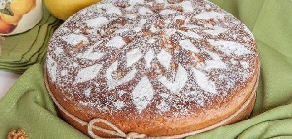 Яблочный пирог самый простой рецепт пошагово в духовке