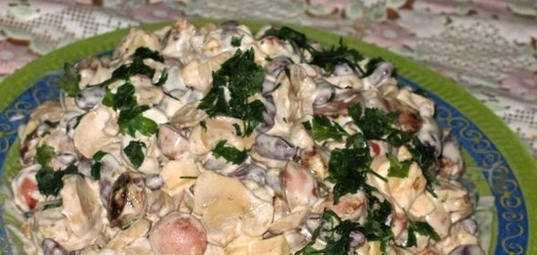 Салат из сосисок рецепт