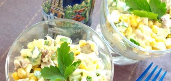 Дамский каприз салат пошагово с