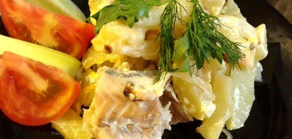 Минтай в духовке рецепты с картошкой рецепт с пошагово