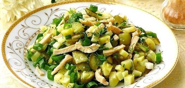 Салат из кальмаров со свежим огурцом рецепт с очень вкусный с