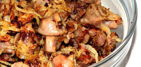 Как приготовить куриные желудки рецепт с пошагово