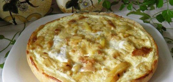 Грибной пирог в мультиварке без дрожжей пошаговый рецепт