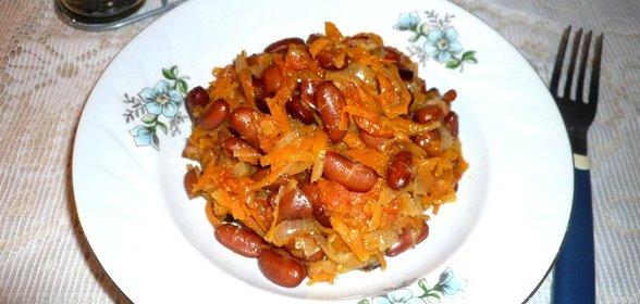 Фасоль в мультиварке с мясом рецепт с пошагово