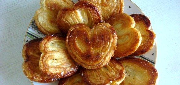 Рецепты сердечек из слоеного теста