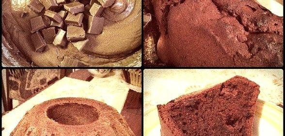 Шоколадный кекс простой на кефире