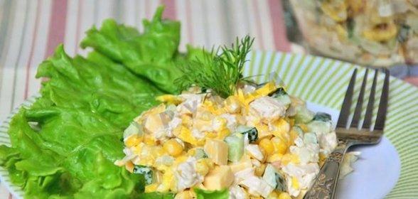 Рецепты вкусных салатов с яичными блинчиками
