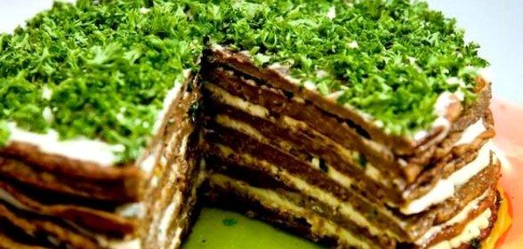 Несложный Рецепт Печеночного торта с морковью и луком пошагово с фото, рецепт домашней кухни