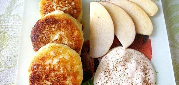 Сырники с яблоками и манкой в духовке рецепт с пошагово