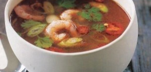 Суп с креветками острый рецепт с фото