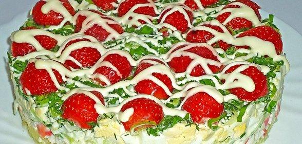 Салат крабовый салат рецепт пошагово в домашних условиях
