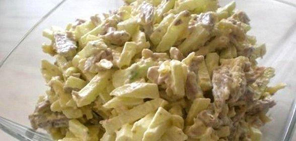 Салат каприз с языком рецепт