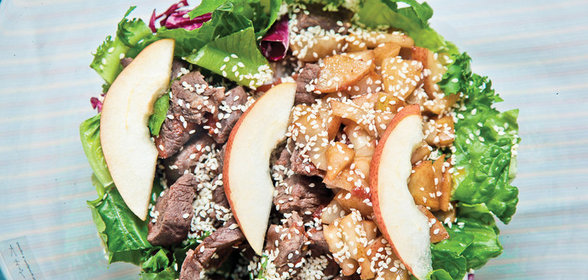 Салат с говядиной пошагово с