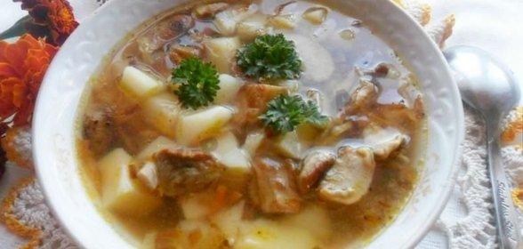Сварить вкусный грибной суп из замороженных грибов