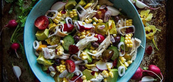 Летние салаты рецепты с курицей