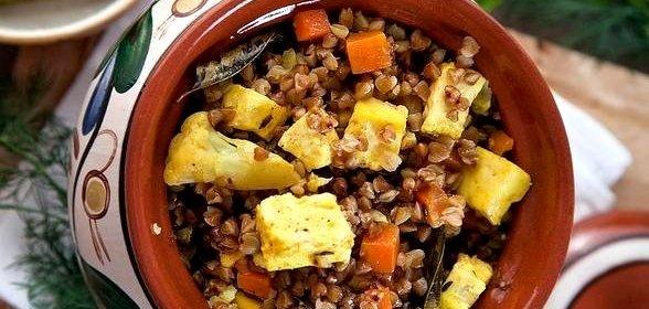 Рецепт гречки с овощами пошагово в