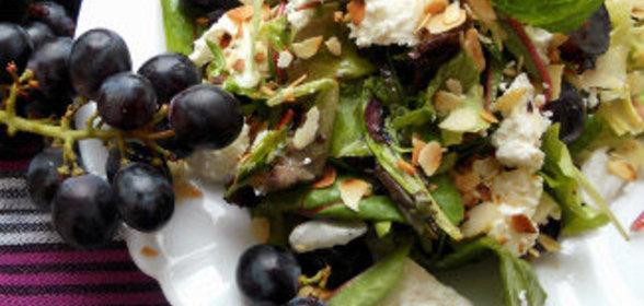 Салаты с виноградом рецепты очень вкусный