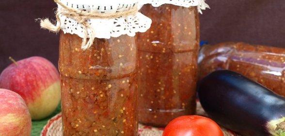 Икра из баклажанов рецепт пошаговый с фото