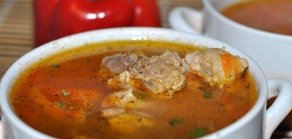 Вкусный мясной суп из свинины рецепт