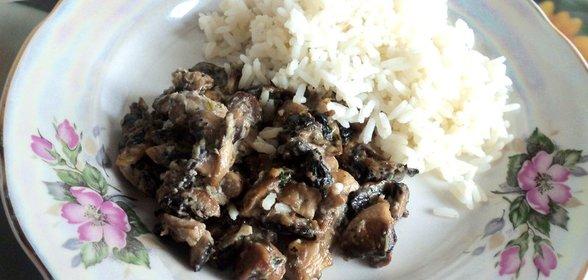 Замороженные грибы в сметане рецепт с пошагово
