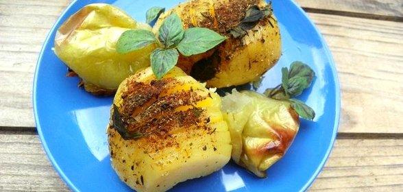 Рецепт картофель с яблоками
