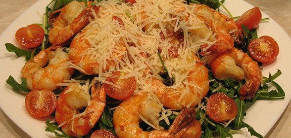 Салат с креветками фото-рецепты