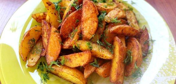 Картошка в духовке по домашнему рецепт с пошагово