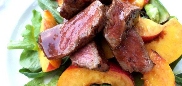 Говядина с персиками рецепт
