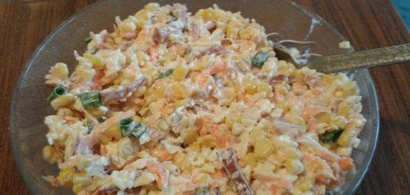 Салаты с яйцами и копченой колбасой рецепт