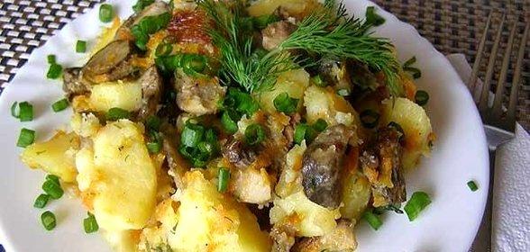Рецепт блюд с картошкой и грибами