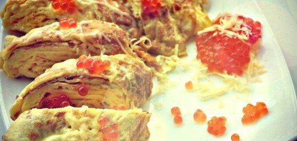 Японский омлет рецепт пошагово с