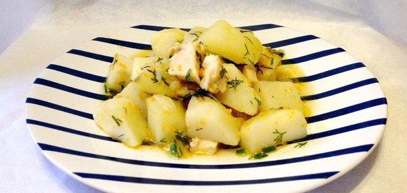 Картошка тушеная с куриной грудкой рецепты