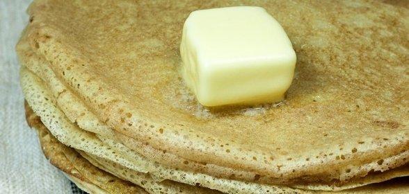 Блинчики на молоке со сливочным маслом рецепт