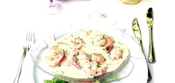 Креветки в сливочно чесночном соусе с пошагово в