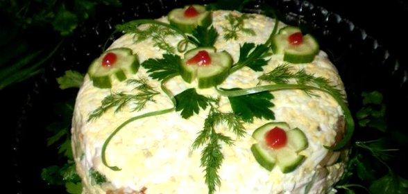 Праздничные салаты с фото пошаговые
