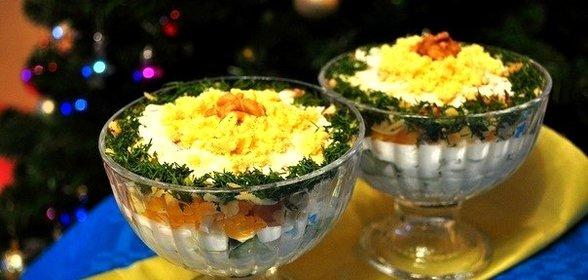 Рецепты салат в креманках рецепты