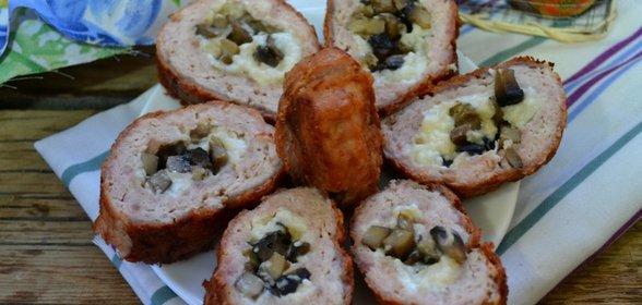 сырный рулет с мясом рецепт с фото