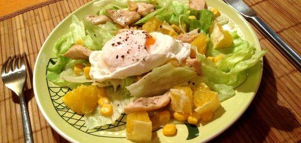 Вкусные салаты с куриной грудкой с