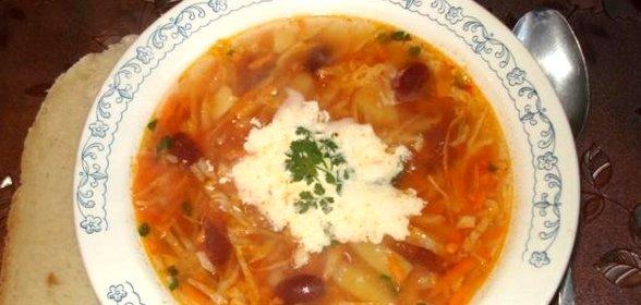 Борщ рецепт пошаговый с фото с фасолью