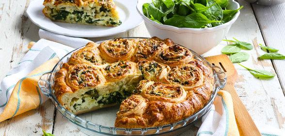 Рецепт пирога с зеленью и сыром рецепт с пошагово