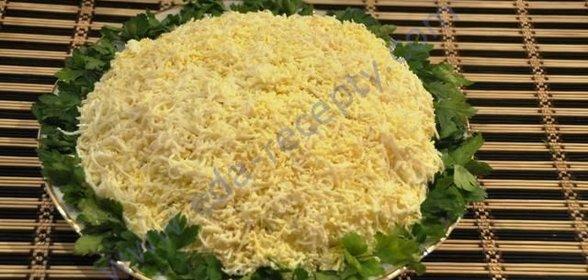 рецепт дамского салата с ананасом