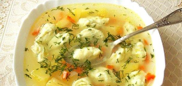 Приготовить клецки в суп